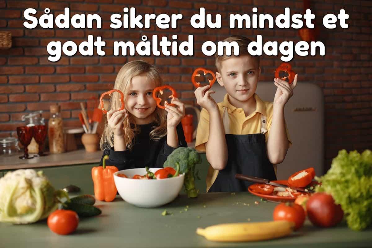 Børn der laver mad